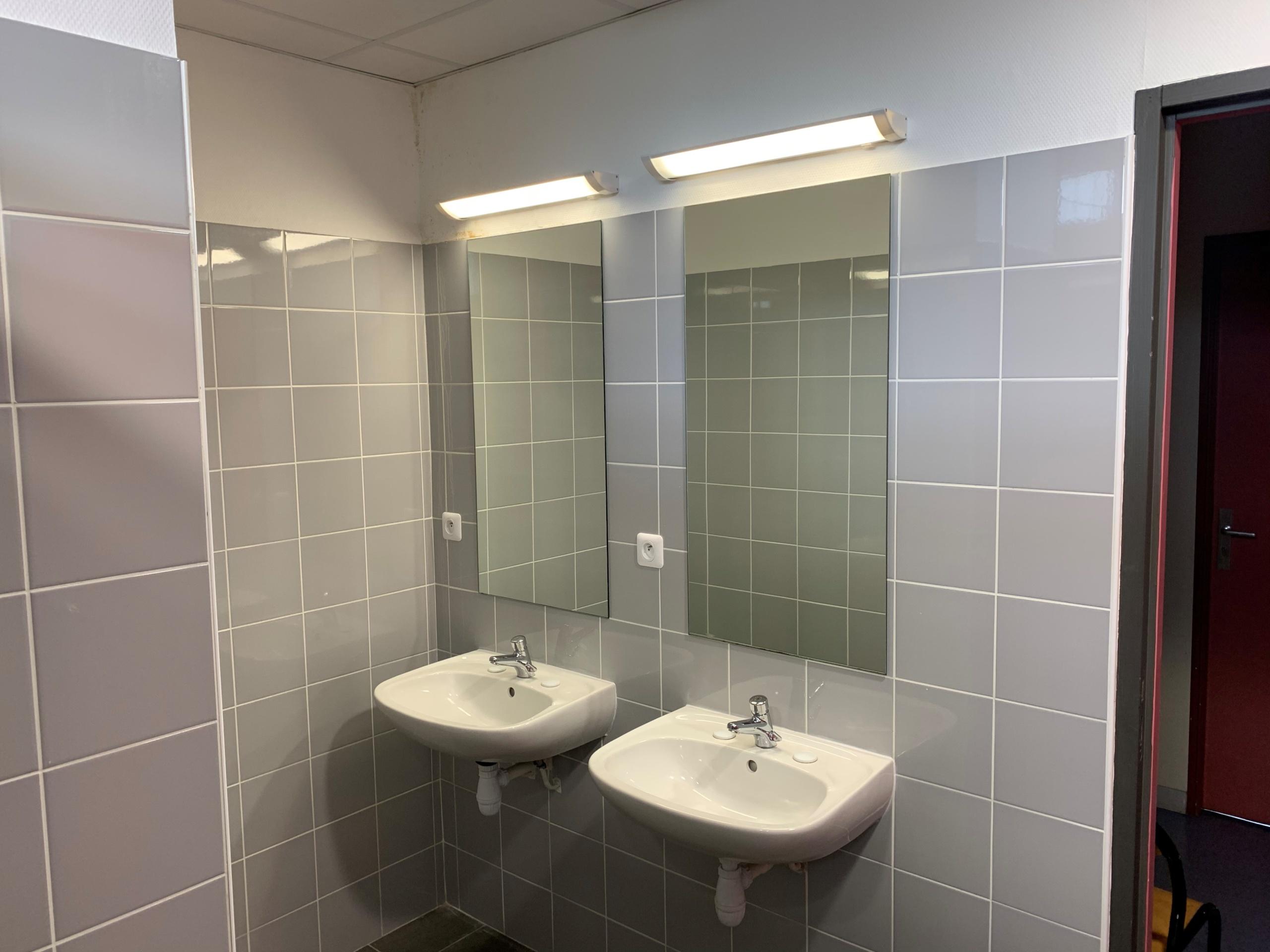Salle de bain à l'internat